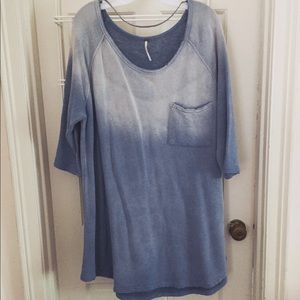 Faded blue tunic sweatshirt from Free People